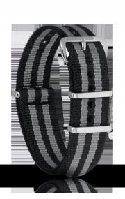 Черно-серый ремень 20мм нейлон
